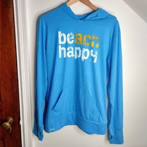30A Lightweight BEach Happy Hoodie Sweatshirt